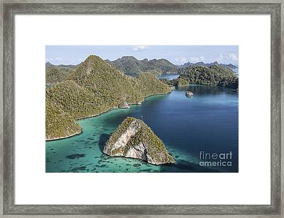 Forest-covered Limestone Islands Framed Print