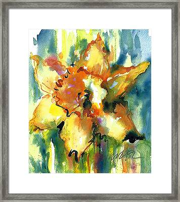 Forest Daffodil The Prayer Framed Print