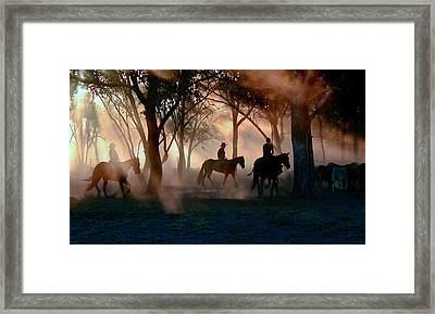 Forest Drovers Framed Print by Daniel Hagerman