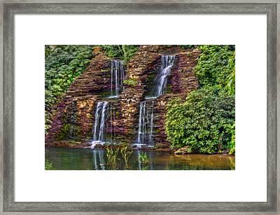 Forest Falls Framed Print by Nadia Sanowar