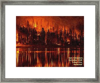 Forest Fire - Reflected H A Framed Print