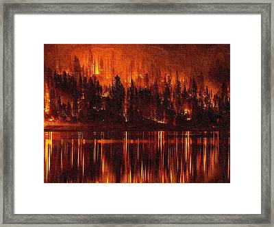 Forest Fire - Reflected H B Framed Print