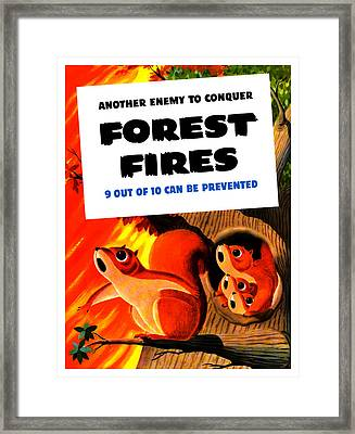 Forest Fires - Another Enemy To Conquer Framed Print by War Is Hell Store