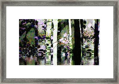 Forest For The Trees Flooded / Watercolor Framed Print by Elizabeth McTaggart