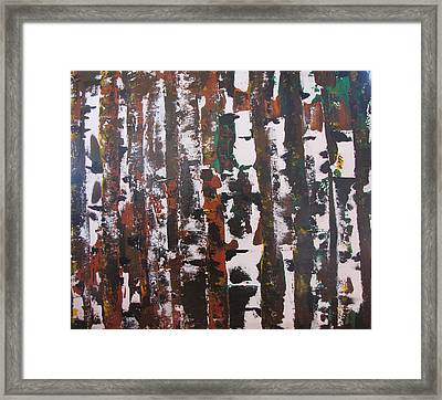 Framed Print featuring the painting Forest For The Trees by Gary Smith