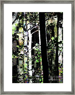 Forest For The Trees / Watercolor / Vertical  Framed Print by Elizabeth McTaggart