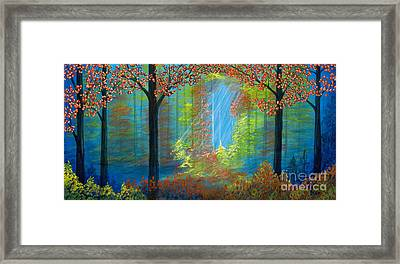 Forest Glow Framed Print by Rebecca Parker
