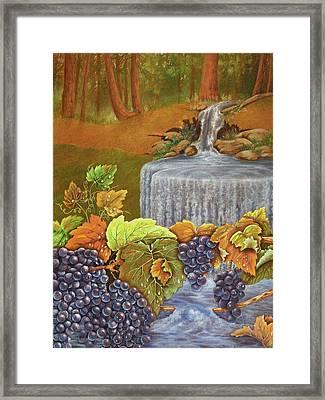 Forest Grapes Framed Print