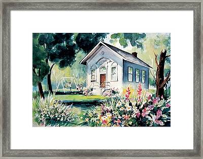 Forest Grove School House Framed Print by Tamara Keiper