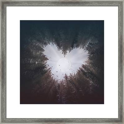 Forest Heart Framed Print
