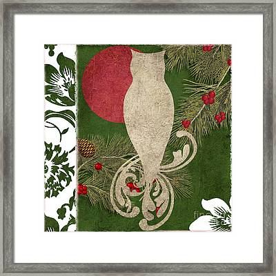 Forest Holiday Christmas Owl Framed Print by Mindy Sommers