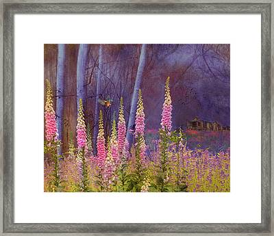 Forest Illusion Framed Print