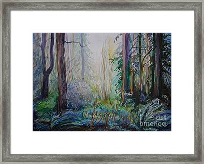 Framed Print featuring the painting Forest In The Spring by Anna  Duyunova