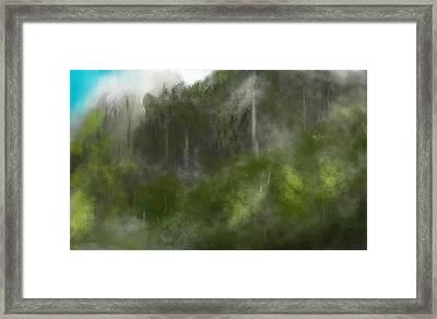 Forest Landscape 10-31-09 Framed Print by David Lane