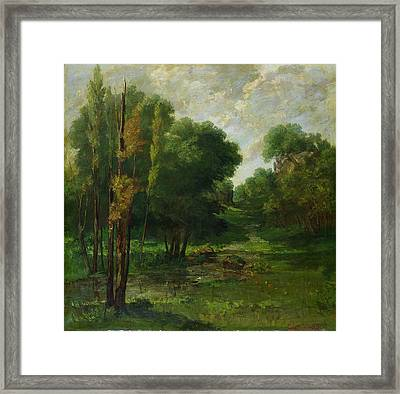 Forest Landscape Framed Print by Gustave Courbet
