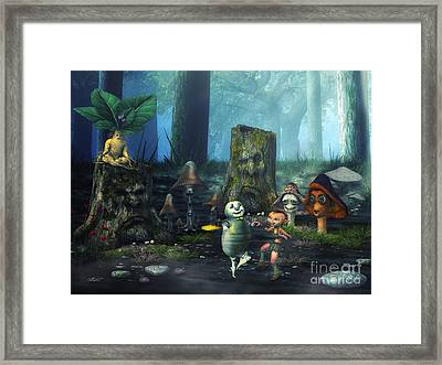 Forest Life Framed Print by Jutta Maria Pusl