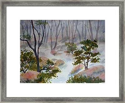 Forest Mist Framed Print by Darla Brock