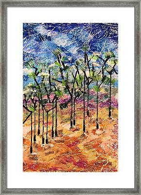 Framed Print featuring the painting Forest by Norma Duch