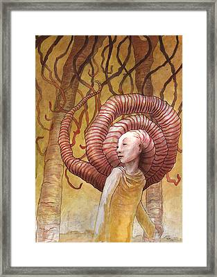 Forest Of Angled Brains Framed Print by Ethan Harris