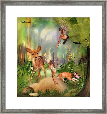 Forest Of Enchantment Framed Print by Solomon Barroa