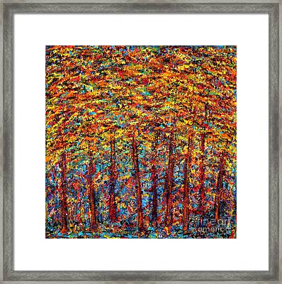 Forest On Fire Framed Print by Melanie Dix