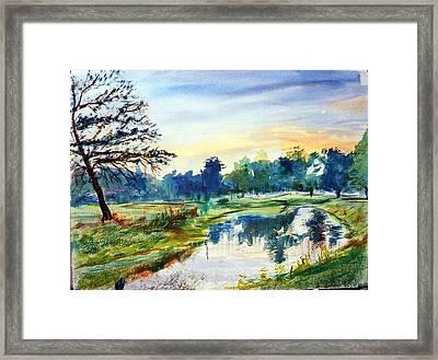 Forest Park At Dawn Framed Print by Horacio Prada