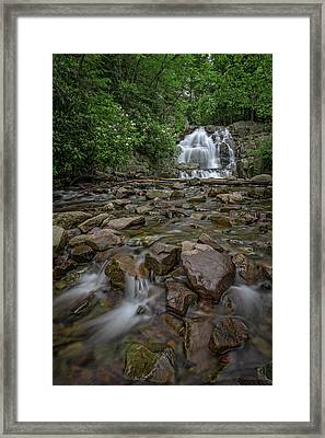 Forest Peace At Hawk Falls Framed Print