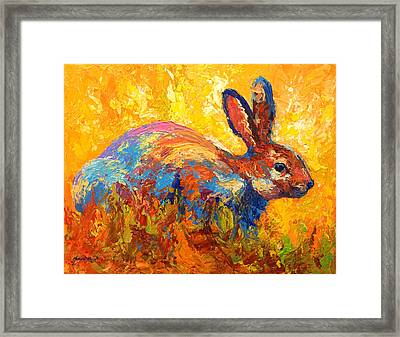 Forest Rabbit II Framed Print by Marion Rose