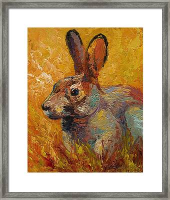 Forest Rabbit IIi Framed Print by Marion Rose
