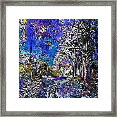 forest road - My WWW vikinek-art.com Framed Print by Viktor Lebeda