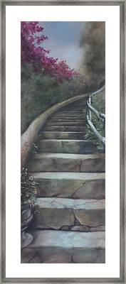 Forest Stairway Up  Framed Print