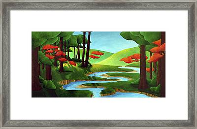 Forest Stream - Through The Forest Series Framed Print by Richard Hoedl