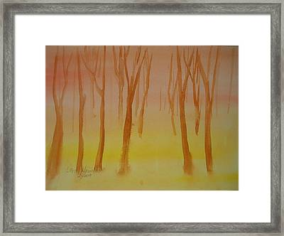 Forest Study Framed Print by Larry Hamilton