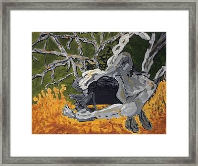 Forest Stump-old Growth Invitation Framed Print by Anne Marjorie Erickson