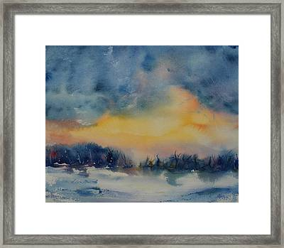 Framed Print featuring the painting Forest Sunrise by Kim Fournier