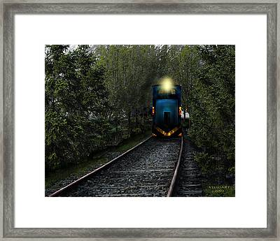 Forest Train Framed Print