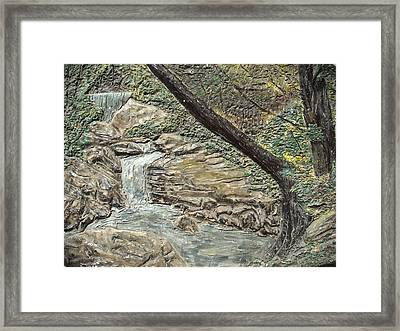 Forest Waterfall Framed Print by Doris Lindsey