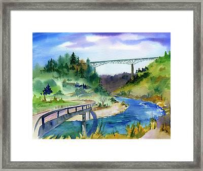Foresthill Bridge #2 Framed Print