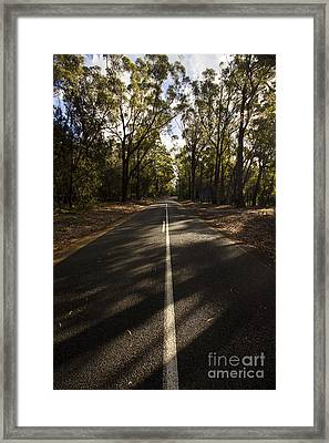 Forestry Road Landscape Framed Print by Jorgo Photography - Wall Art Gallery