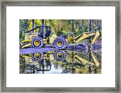 Forestry Work Framed Print by JC Findley