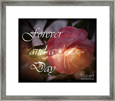 Forever And A Day Framed Print by Eva Thomas