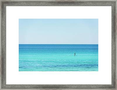 Forever Blue Gulf Paddle Framed Print