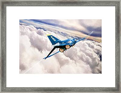 Forever Blue Framed Print by Peter Chilelli