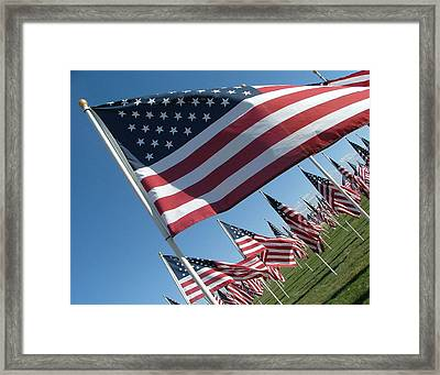 Forever Flags Framed Print