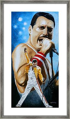 Framed Print featuring the painting Forever Freddie Mercury by Al  Molina