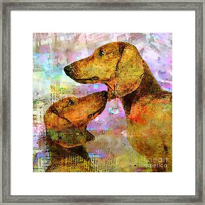 Forever Friends Framed Print by Stacey Chiew