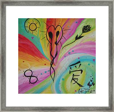 Forever In Love Framed Print by Sacred  Muse