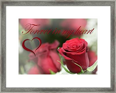 Framed Print featuring the photograph Forever In My Heart by DJ Florek
