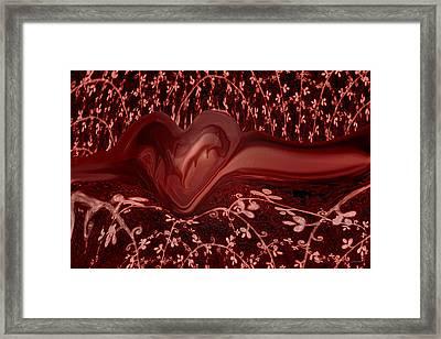 Forever Love Framed Print by Linda Sannuti