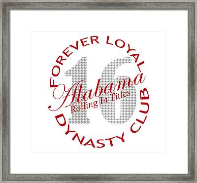 Forever Loyal Dynasty Club Framed Print by Greg Sharpe
